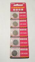 5 Pack CR1620 3v Lithium Batteries Coin Cell 75mAh Exp 2022
