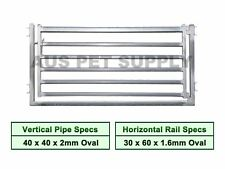1.1M x 2.1M Heavy Duty Sheep Panel Gate Cattle Yard Fencing 6 Oval 2mm thick BNE