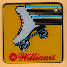 ROLLERGAMES YELLOW SPEAKER CUT-OUT Promo PINBALL Plastic RARE Keychain FOB 1990
