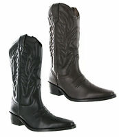 Gringos High Clive Cowboy Western Mens Leather Pull On Pointed Toe Boots UK6-12