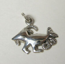 Capricorn Goat Charm Pendant .925 Sterling Silver USA Made Zodiac Horoscope