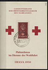 Saarland 292 gestempelt  auf Sonderkarte zur IBASA FDC (B02848)