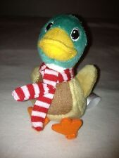 DUCK CHRISTMAS ORNAMENT ZYNGA FARMVILLE PLUSH STUFFED ANIMAL FARM, NEW!!