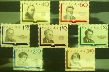 POLAND STAMPS MNH Fi1832-38 Sc1711-17 Mi1979-85 - Polish writers, 1969, clean
