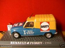 RENAULT 4 F6 DARTY 1986 UNIVERSAL HOBBIES 1/43 BOITE