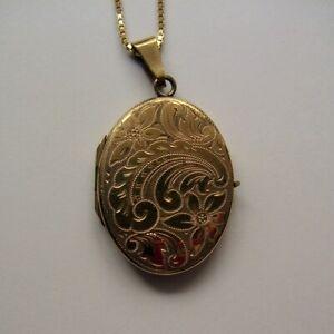 Hübsches Medaillon - Anhänger zu Öffnen - Gold Double`- mit Kette - 40 cm