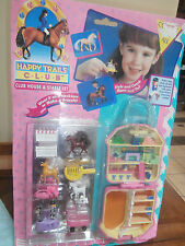 Rare Polly Pocket Bluebird MT HK 1994 Pink Horse Stable Clubhouse Complete MIB
