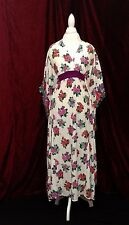 Vintage womens clothing - 1960s Hawaiian caftan dress retro ladies apparel