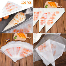100PCS Decorating Disposable Icing Cake Pastry Disposable Piping Bag Mold Tool
