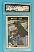 Frank Thomas 1992 Front Row #5 Chicago White Sox - AUTO - HOF - PSA