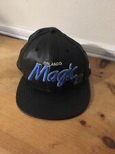 New Era Orlando Magic Leather SnapBack Hat Hardwood Classics
