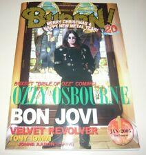 BURRN! 1/05 Japan Magazine Ozzy John Sykes Velvet Revolver Bon Jovi Tony Iommi