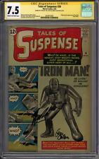 Tales of Suspense #39 Stan Lee Gene Colan Sig Series CGC 7.5 (C-OW) 1st Iron Man
