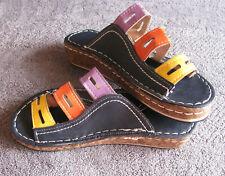 Chic Multi-Color Bunion Corrector Sandals US Size 6 EUR 36 Brand New