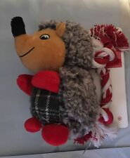 Pet Shop play set Holiday Dog Toy Christmas 2 piece plush Porcupine & Rope