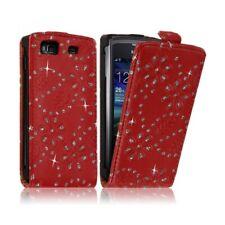 Housse Coque Etui Pour Samsung Wave 3 Style Diamant Couleur Rouge