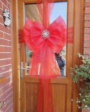 Red christmas door bow