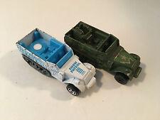 Lot of 2 x Hot Wheels Used Snow Patrol Half-Track Diecast Model Trucks