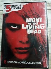 Night of the Living Dead Plus 5 Horror Movies Collection Dvd Brand New
