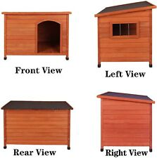 Rockever Wood Dog House for Outdoor - Insulated & Weatherproof [33x22x21 inch]