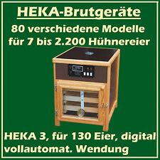 HEKA 3 - vollautomatisches Brutgerät - Brutmaschine - Brutapparat für 130 H.Eier