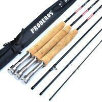 Fishing Carbon Fly Rod Fiber 3/4 5/6 7/8 Fast 7ft Action 8wt Max Catch Cork Tube
