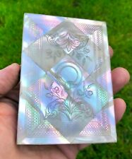 More details for antique mother of pearl engraved business calling card case - excellent example