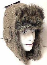 7417b745d60 S M (Sm Med) New 38 DOCKERS WINTER TRAPPER HAT Faux Fur