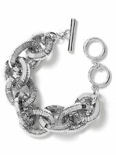 Banana Republic Glimmer Glamour Statement Toggle Bracelet NWT $79.50 SILVER