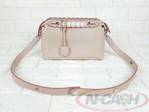 BIGSALE! AUTHENTIC $2500 FENDI Peach/Red By The Way Leather Satchel Bag