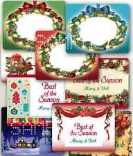 """10 Blank or Custom 2.7 x 2"""" RECT Cake Cookie Jam Jelly Adhesive LABELS Christmas"""