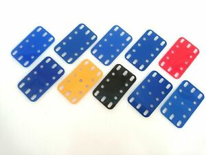 Vintage Meccano 10 Plastic Plate; 2 1/2 in. x 1 1/2 in. (194) (10 available)