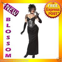 C755 Victorian Vampiress Vampira Vampire Halloween Fancy Dress Adult Costume