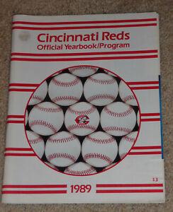 1989 Cincinnati Reds Official Yearbook - Program - MLB - Pete Rose Ken Griffey