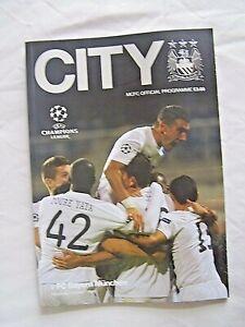 MANCHESTER CITY, BAYERN MUNICH, CHAMPIONS LEAGUE, 2013, FOOTBALL PROGRAMME