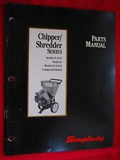 SIMPLICITY WOOD CHIPPER/SHREDDER 2C, 3C, 5C, 612, 912, & COMMERCIAL PARTS MANUAL