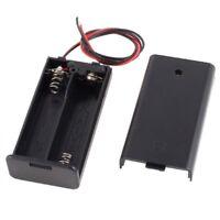 K6V8 2X 2 x AA 3V Battery Holder Case Box Slot Wired ON/OFF Switch w Cov