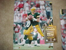 Brett Favre autographed signed auto Packers 16x20 poster size photo hologram COA