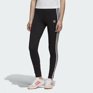 Adidas Originals ADICOLOR CLASSICS 3-STRIPES LEGGINGS Black 4 6 8 10 12 14 16 20