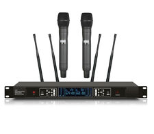 200 Channels Professional UHF True Diversity Dual Wireless Stage Microphones