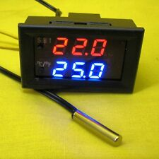 Thermostat Relay Temperature Controller Sensor Digital 12V DC LED Display Meter
