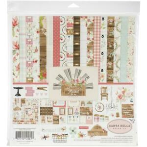 "Carta Bella 'FARMHOUSE MARKET' 12"" Collection Paper Pack + Stickers Floral"