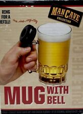 Beer Mug With Bell Man Cave 24 oz Bar Ware Gag Gift New