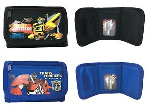 Transformers Set of 2 Children boy Tri Fold Wallet