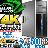 Fast HP Gaming Tower Computer PC Core i5 nVidia Geforce GTX 1050 2GB GDDR5 4K PC