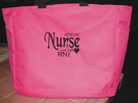 1 NURSE TOTE Bag RN LPN CNA  MEDICAL OFFICE gift PERSONALIZED EMBROIDERED LVN