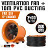 12'' Extractor Fan Blower portable 10m Duct Hose air mover Electrical  Workshop