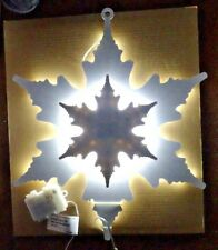 "18"" White LED DOUBLE BACK LIT SNOWFLAKE 3AA Batteries Indoors  Outdoors New $47"