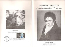 #1270 First Day Ceremony Program 5c Robert Fulton Stamp