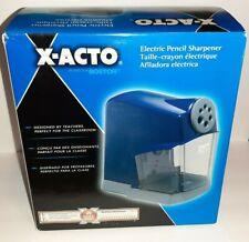 X Acto School Pro Classroom Electric Pencil Sharpener Blue